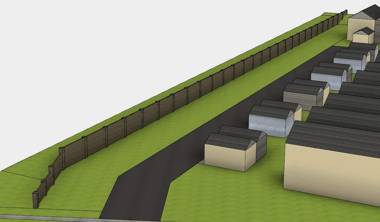 Concrete Fence – Manning Village