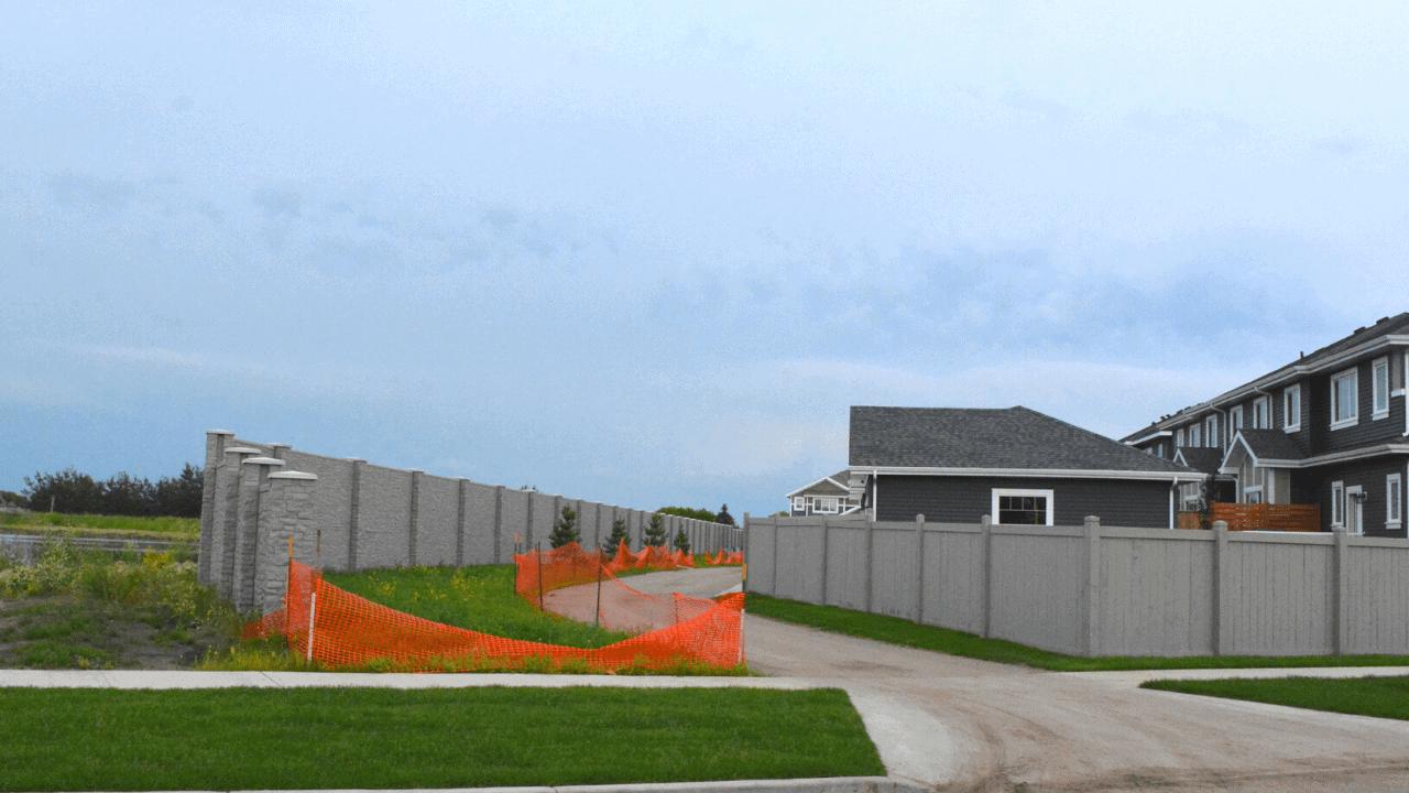 Concrete Fence - Manning Village